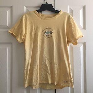 Life is good yellow mug t shirt